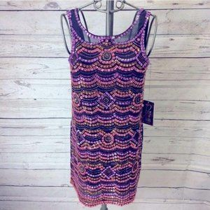 Urban Outfitters Multicolor Beaded Low Back Dress